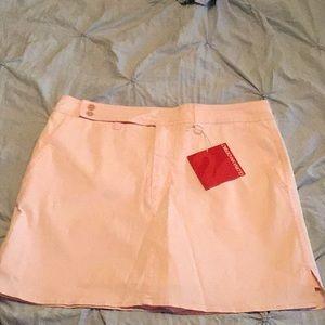 NWT Pink Pinstripe Skort